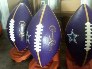 Crown Royal Football Display
